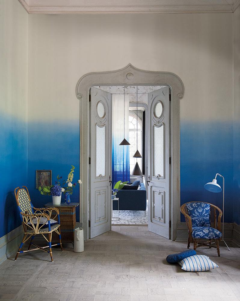 شناخت رنگ در طراحی داخلی ombre walls boho chic
