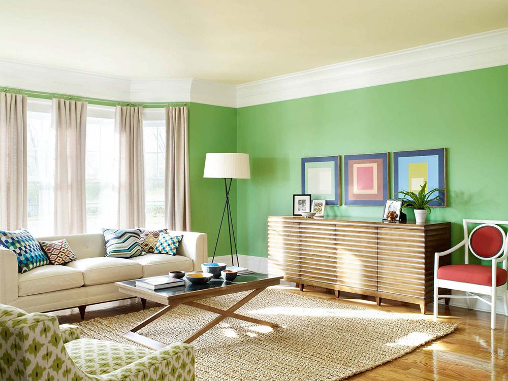شناخت رنگ در طراحی داخلی Soft Green Combine with White make