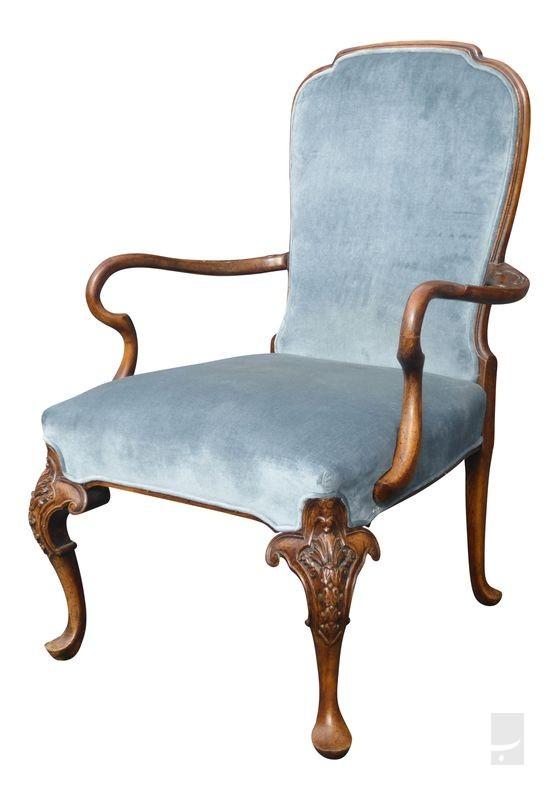 صندلی کلاسیک سلطنتی آنتیک آبی