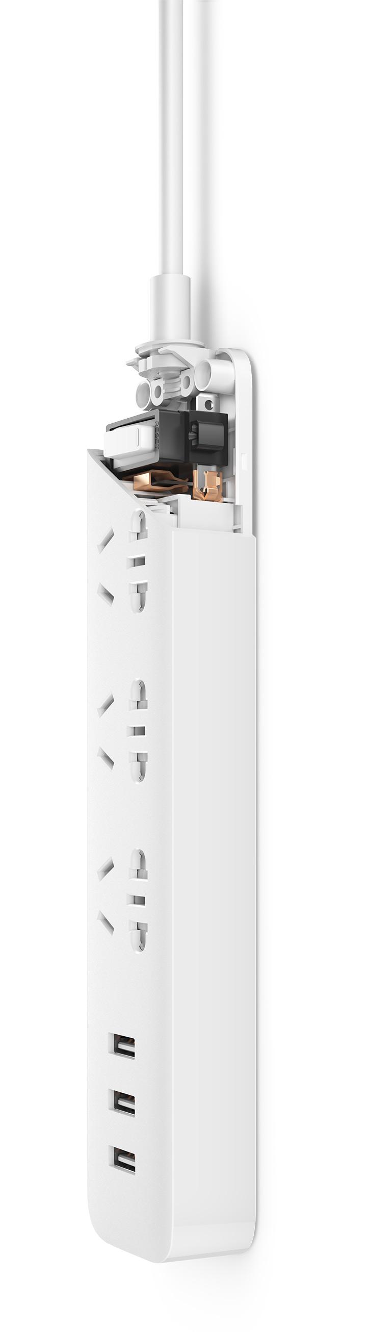 سه راهی برق USB دار شیائومی